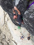 Rock Climbing Photo: Unknown route near Bear Valley Reservoir