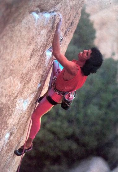 Scott Cosgrove on Father Figure (5.12d), Joshua Tree NP<br> <br> Photo by Greg Epperson (http://www.gregepperson.com)