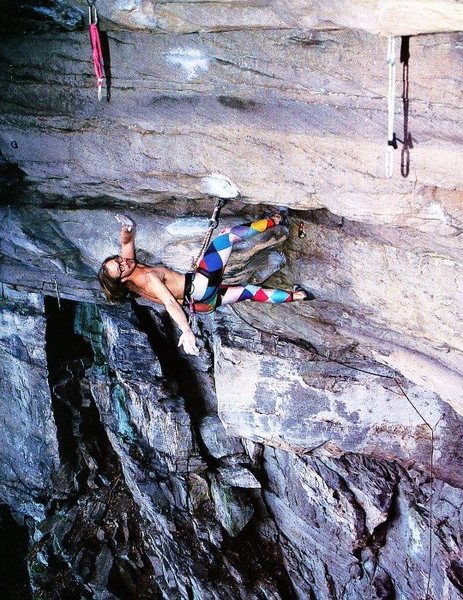 Rock Climbing Photo: Porter Jarrard on Lactic Acid Bath (5.12d), Kaymoo...