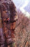 Rock Climbing Photo: Doug Reed on Voyeur's Hand (5.12c), New River ...