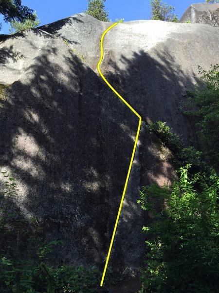 Rock Climbing Photo: Finger Fist Hand Topo