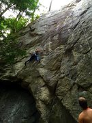 "Rock Climbing Photo: This part is ""The Reach"""