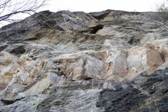 Rock Climbing Photo: The line of Iron Man, Right side is on the way up,...