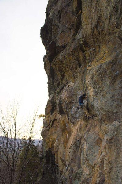 Rock Climbing Photo: Charlie (Chunk) Miller-Nelson approaching Iron Man...