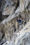 Rock Climbing Photo: Commiting to this tooth-dercling can be hard!