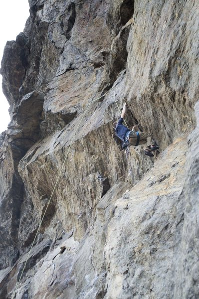Rock Climbing Photo: Charlie on Iron Man