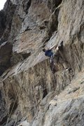 Rock Climbing Photo: Mantling in Crux
