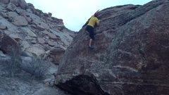Rock Climbing Photo: Top that B out.