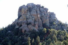 Rock Climbing Photo: The shady side of Stewart Peak with trail to Zen P...