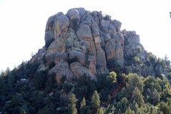 Rock Climbing Photo: Stewart Peak, West Face with Zen Plum path and anc...