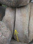Rock Climbing Photo: Not as wide as it looks.