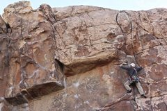 Rock Climbing Photo: Last piece of pro I could get in before the top.  ...
