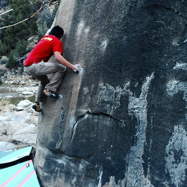 Rock Climbing Photo: Michael Madsen climbs Feels Like Grit