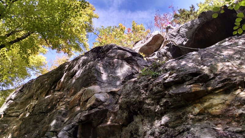 Rock Climbing Photo: KLS topping out