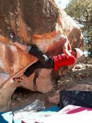 Rock Climbing Photo: Michael Madsen on self services crux portion