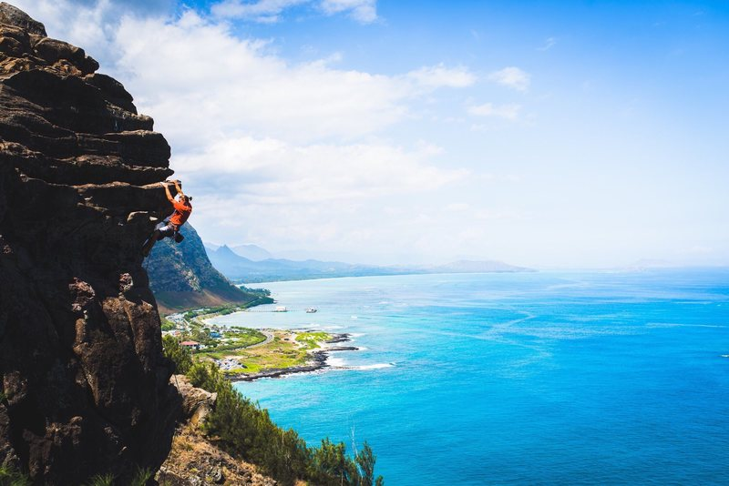 Fun climbing in Hawaii