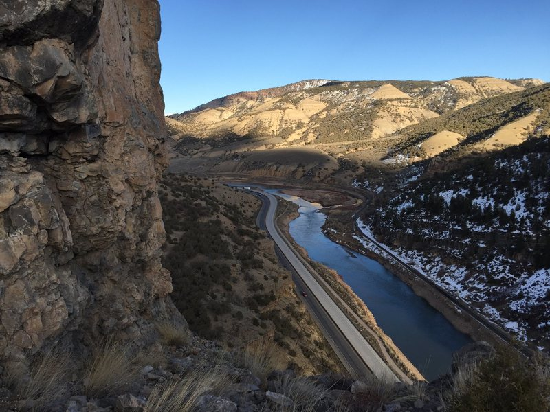 Rock Climbing Photo: Looking east towards Dotsero/Gypsum I-70 and Color...