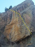 Rock Climbing Photo: Center Route on The Bulge at the Dark Side of Morr...