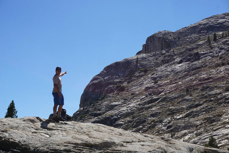 Rock Climbing Photo: Spotting our Line