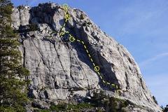 Rock Climbing Photo: Emigrant Labor Topo
