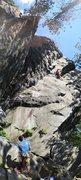 Rock Climbing Photo: Onsight go.  This climb rules!