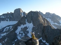 Rock Climbing Photo: Mt. Sill and Gayley from summit of Temple.