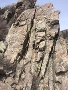 Rock Climbing Photo: Different angle. Crack is approached from the left...