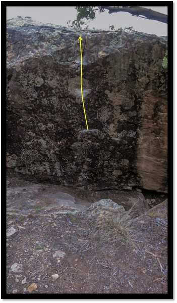 Rock Climbing Photo: Niner Spasm problem beta.