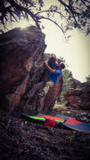 Rock Climbing Photo: Reaching the lip of Quantum Entanglement.