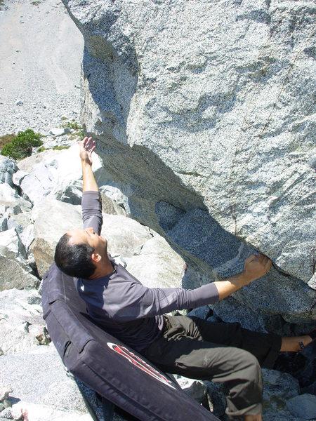 bouldering at the Rock Garden.