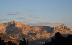 Rock Climbing Photo: North Peak and Mt Conness at sunrise