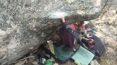 Rock Climbing Photo: The sloper jug.