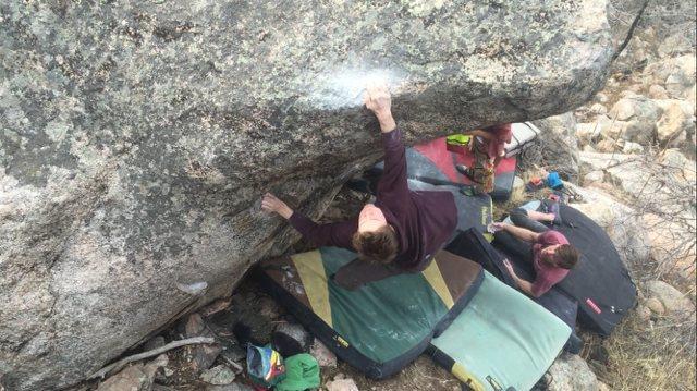 Rock Climbing Photo: The start position.