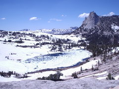 Rock Climbing Photo: Budd Lake and Cathedral Peak