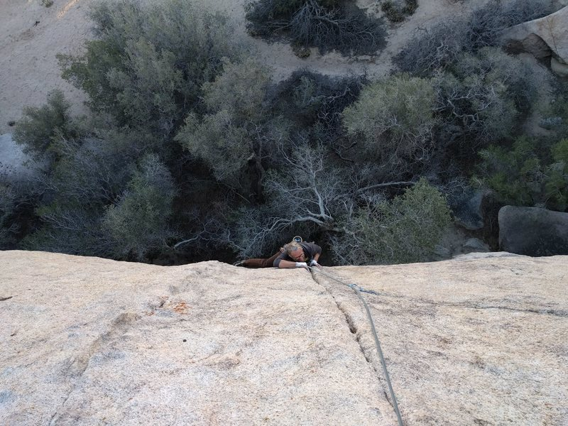 Rock Climbing Photo: Getting into the crux of Potato Head