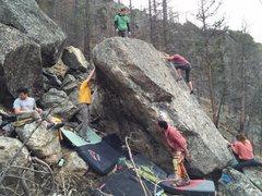 Rock Climbing Photo: Crew shot on the Le Don Boulder.