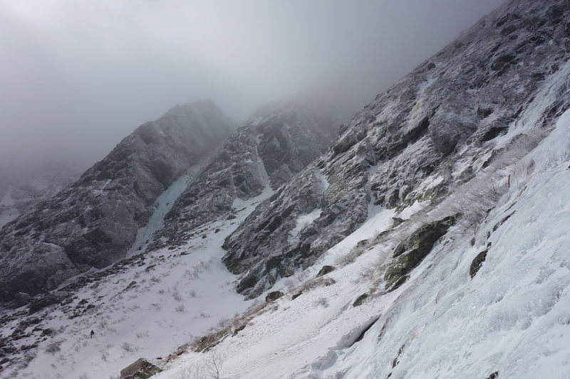 Pinnacle, as seen from Yale gully.