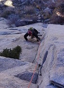 Rock Climbing Photo: The thin crux section of 'Rewritten'