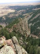 Rock Climbing Photo: View of Upper Redgarden from the summit.