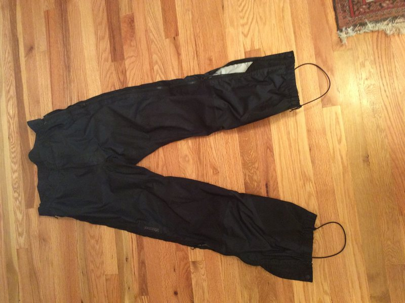 Marmot Light speed Gore XCR pants. Separating side zips. Minor wear. 1 repaired hole on right calf. $60. Full hard shell with plenty of life left!