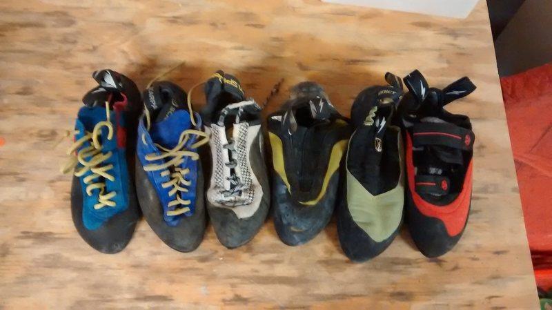 Rock Climbing Photo: random shoes