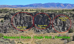 Rock Climbing Photo: Overview photo to locate the Right Side of Eagle W...
