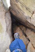 Rock Climbing Photo: Climbing the Cave Route
