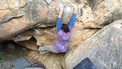 Rock Climbing Photo: Niko on the FA of Zendetta