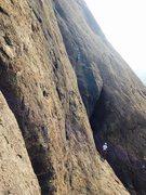 Rock Climbing Photo: Sohan and Satish, on Pranic Drilling (5.10a) at Mo...