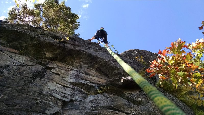Rock Climbing Photo: pulling over the top