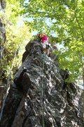 Rock Climbing Photo: KLS reaching the top