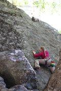 Rock Climbing Photo: starting off