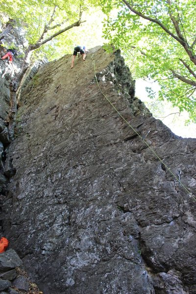 Rock Climbing Photo: Jon going barefoot