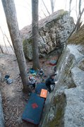 Rock Climbing Photo: cruxin